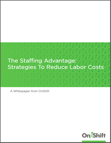 Staffing strategies to control and reduce labor costs